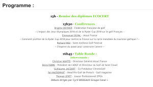Professionnels du Golf - Business