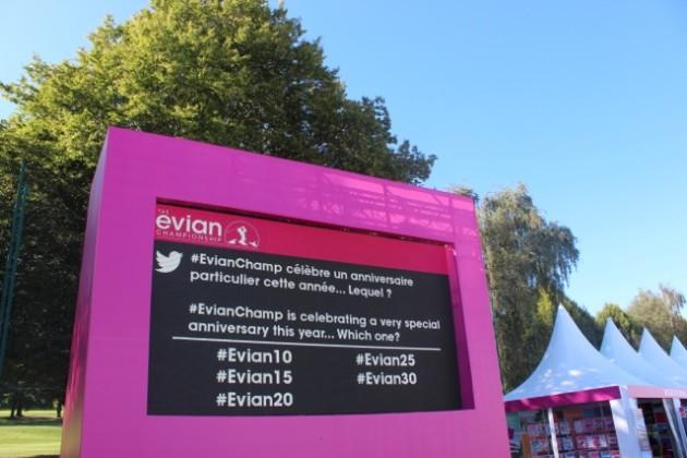 Social Wall - Evian Championship 2014