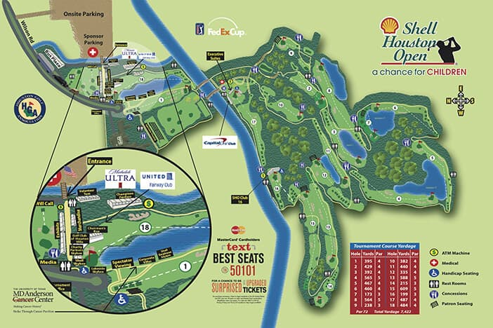 Shell Houston Open - Course Map