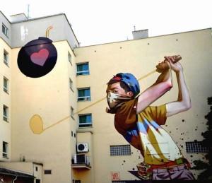 Street Art - Planète Golf