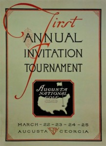 Augusta National Golf Club - Invitation Masters 1934