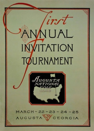 Augusta National Golf Club - Invitation Masters 1934
