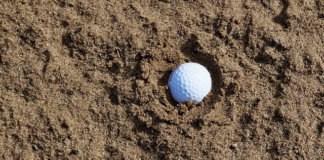balle - bunker - règles de golf