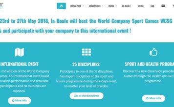 Jeux Mondiaux Sport Entreprise 2018 -Site Web