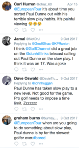 Paul Dunne-Slow Play-Twitter
