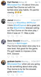 Paul Dunne-Slow Play-Twitter