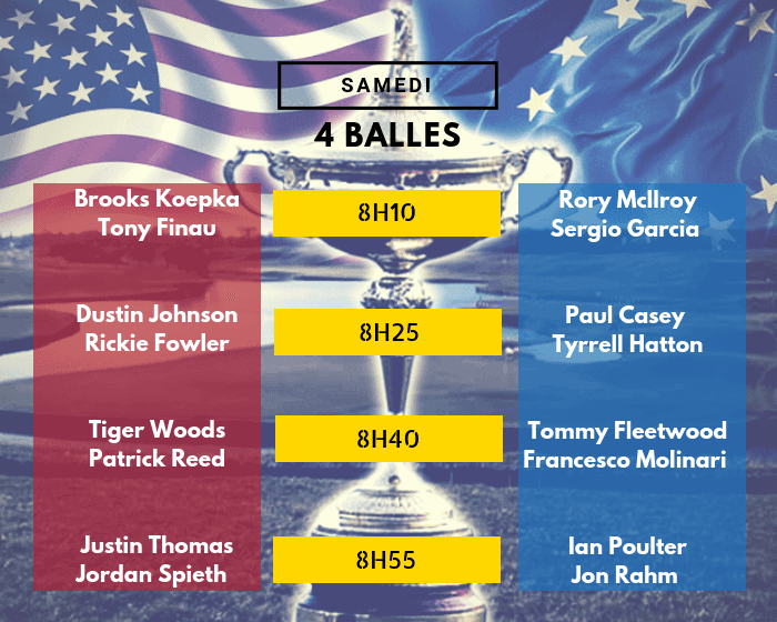 Session 3 - 4 Balles - Ryder Cup 2018