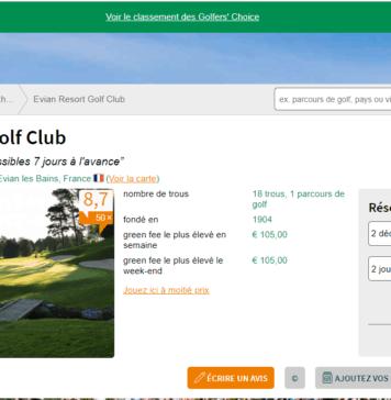 Golf evian - Site web leadingcourses
