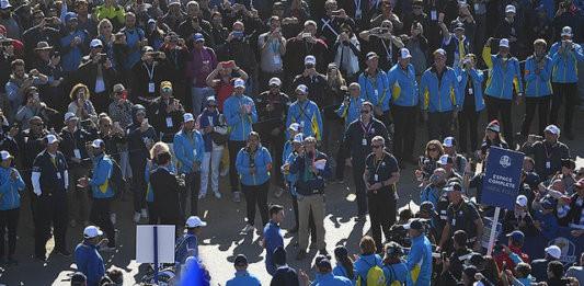 Passage Départ du 1 - Golf National - Ryder Cup 2018