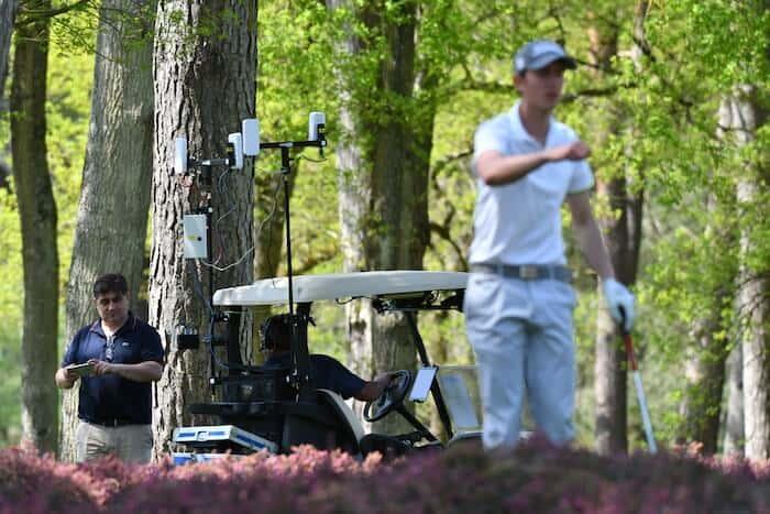Voiturette connectée-TeeVee-Diffusion tournoi golf