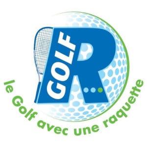 Logo R-Golf, le golf avec une raquette