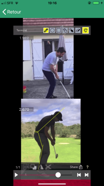 iGolf.one comparaison swing champion