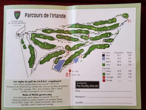 Ronde de golf à Montréal - Parcours L'Irlande - CGIM