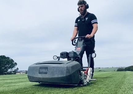 Baptiste Delord jardinier de golf